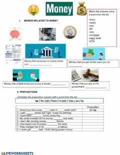 Interactive worksheet Money!