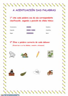 Interactive worksheet A acentuación
