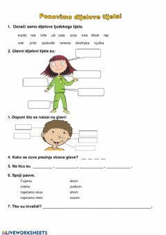 Interactive worksheet Priroda