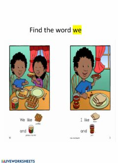 Interactive worksheet Sight Word-we