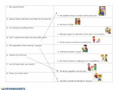Interactive worksheet Class rules