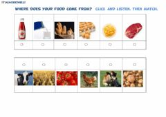 Interactive worksheet Where does food come from?