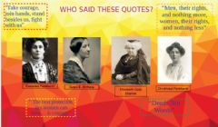 Interactive worksheet Famous Suffragetes Quotes