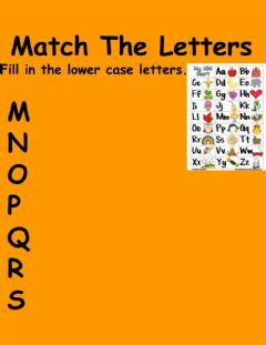 Ficha interactiva Match the letters
