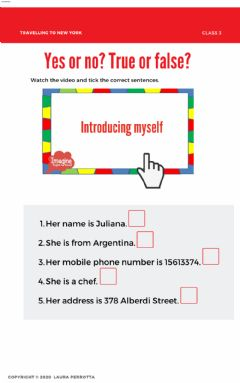 Interactive worksheet L1- class 3- introducing yourself