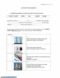 Interactive worksheet Electricity II