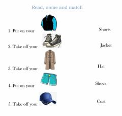 Interactive worksheet Actions with clothes