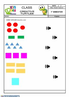 Interactive worksheet Shapes - numbers