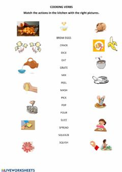Interactive worksheet Cooking - Matching