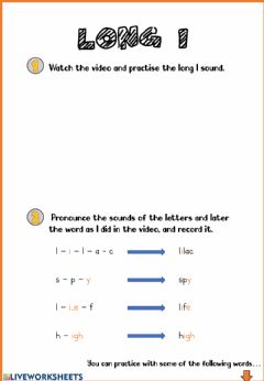 Interactive worksheet Phonics: long I