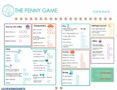 Ficha interactiva Wealthy Habits Penny Game