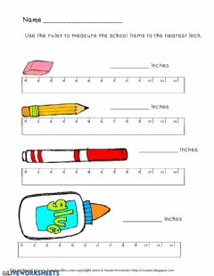 Interactive worksheet Measurement worksheets