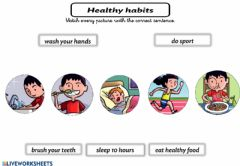 Ficha interactiva Healthy habits