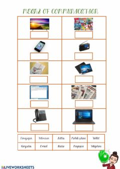 Interactive worksheet Means of communication II