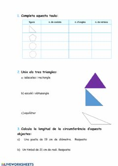 Interactive worksheet Figures planes