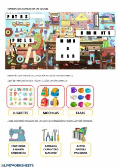 Interactive worksheet Trabajos