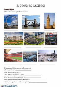 Interactive worksheet London tour