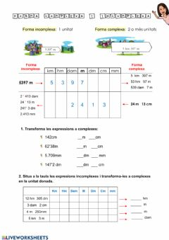 Interactive worksheet Forma complexa i incomplexa
