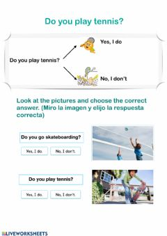Interactive worksheet Do you play..?