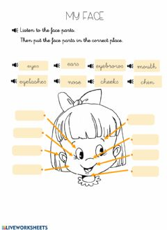 Interactive worksheet Face parts