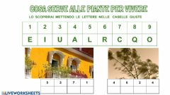 Interactive worksheet Cosa serve alle piante