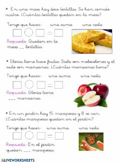Interactive worksheet Ficha de problemas