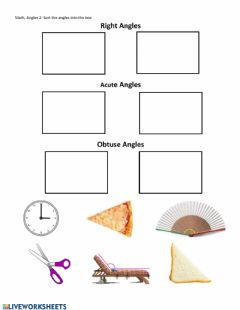 Interactive worksheet Angles 2