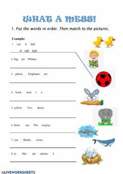 Interactive worksheet Reading and writing Starters