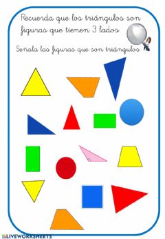 Interactive worksheet Los triángulos
