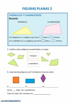 Interactive worksheet Figuras planas 2