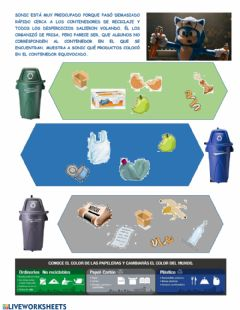 Interactive worksheet Sonic Recycling