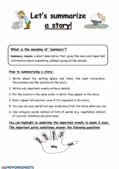 Interactive worksheet Summary