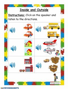 Interactive worksheet Inside and Outside