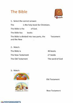 Interactive worksheet The Bible