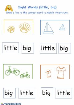 Interactive worksheet Little, Big