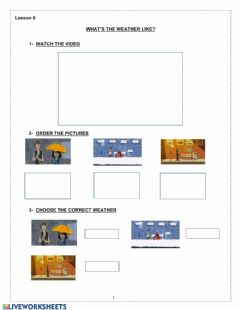 Interactive worksheet What-s the weather like?