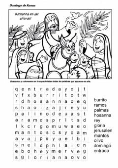 Interactive worksheet Sopa de Letras Domingo de Ramos