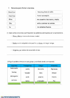 Interactive worksheet Examen lengua castellana