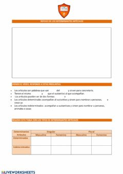 Interactive worksheet Determinantes