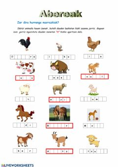 Interactive worksheet Abereak