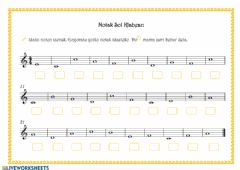 Interactive worksheet Notak Sol Klabean