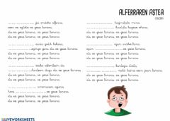 Interactive worksheet Alferraren astea.