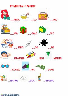 Interactive worksheet Italiano