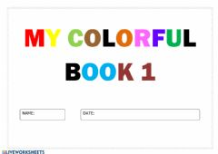 Interactive worksheet My colourful book 1