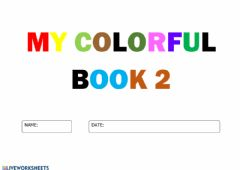 Interactive worksheet My colourful book 2