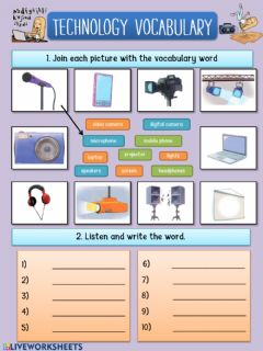 Interactive worksheet Technology vocabulary (unit 5)
