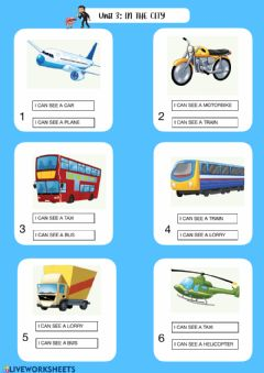 Interactive worksheet 1st grade: Unit 3: In the city