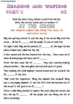 Interactive worksheet Reading and Writing 4-1
