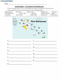 Interactive worksheet The Islands of The Bahamas