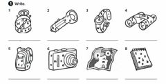 Interactive worksheet In my town: objects